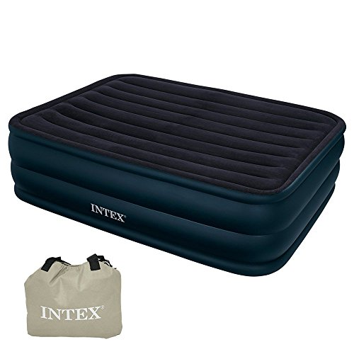 Intex 66718 Raised Queen Air Bed With Built In Electric