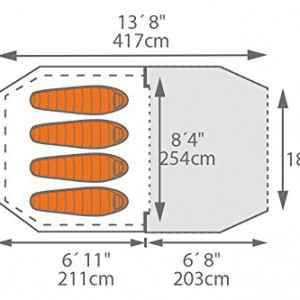 Kelty Mach 4 man inflatable tent graph