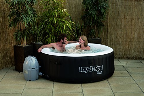 Lay-Z-Spa Miami Inflatable Hot Tub with a couple