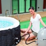 Lay-Z-Spa Miami Inflatable Hot Tub inflating