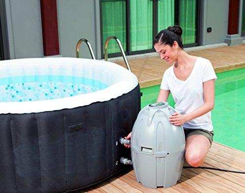 Lay-Z-Spa Miami Inflatable Hot Tub setting up