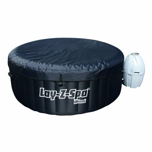 Lay-Z-Spa Miami Inflatable Hot Tub covered