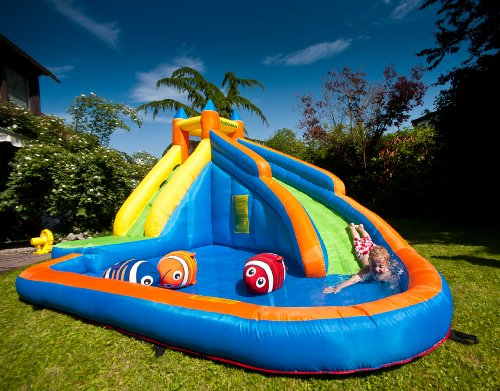 Tobogani Water Park Paddling Pool With Inflatable Slide