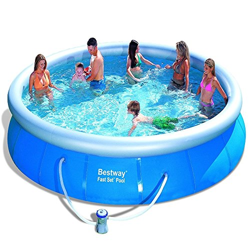 Bestway inflatable fast set family garden round paddling for Family garden pool