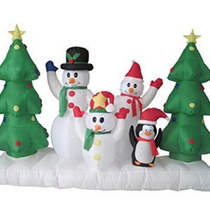WeRChristmas-240-cm-Large-Pre-Lit-Snowman-Family-Scene-Inflatable-Christmas-Decoration-with-LED-Lights-and-Fan-Multi-Colour-0