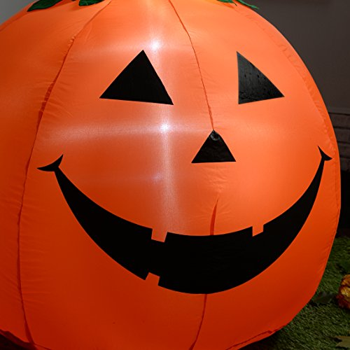 werchristmas 120 cm large pre lit pumpkin inflatable. Black Bedroom Furniture Sets. Home Design Ideas