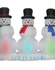 Huge inflatable snowmen