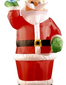 Inflatable Santa Holding Present