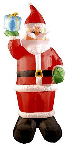 Inflatable Santa Holding Present