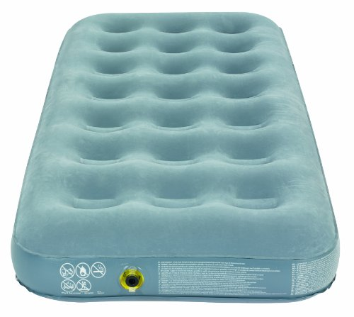 Campingaz Quick Single Flocked Surface Inflatable Camp Air Bed Blue 188 X 74 Cm