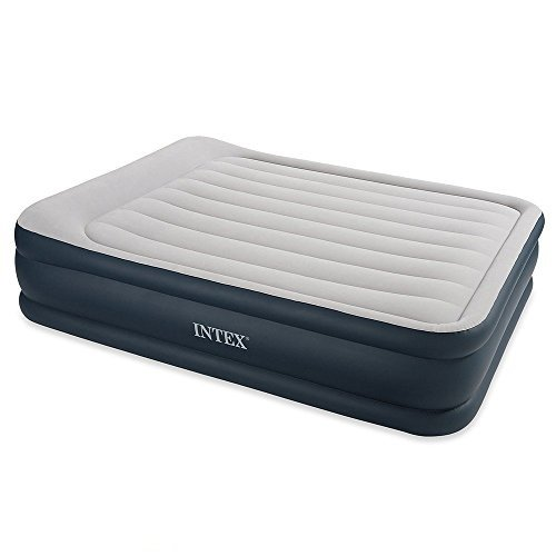 Intex Deluxe Pillow Rest Raised Air Bed Queen Size Inc