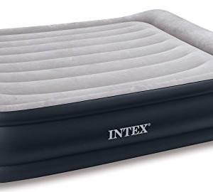 intex deluxe pillow rest raised air bed queen size #67736 - inflatable