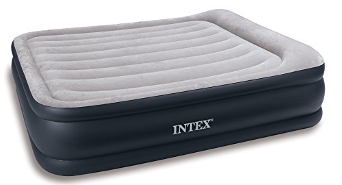 Intex Deluxe Pillow Rest Raised Air Bed Queen Size 67736