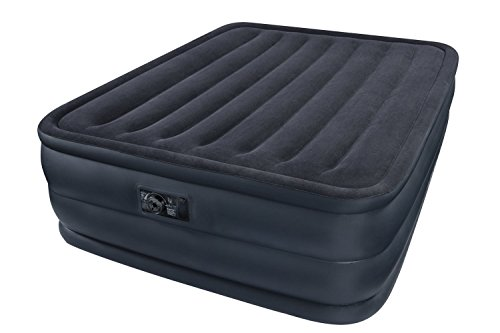 Intex 66718 Raised Queen Air Bed With Built In Electric Pump Inflatable