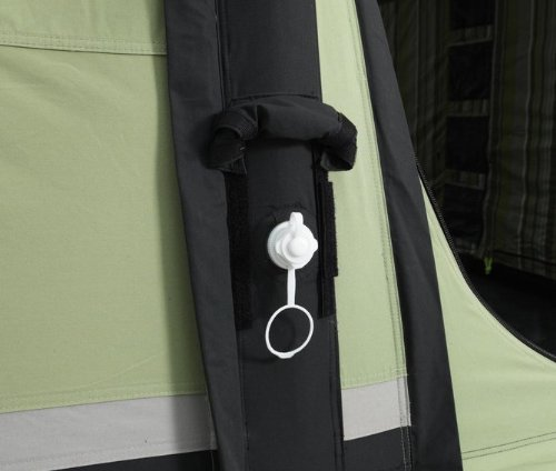 Outwell Concorde L 6 man inflatable tent close-up