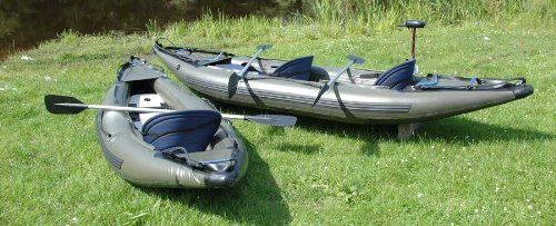 Bison Inflatable 1 Man Fishing Kayak Canoe With Free