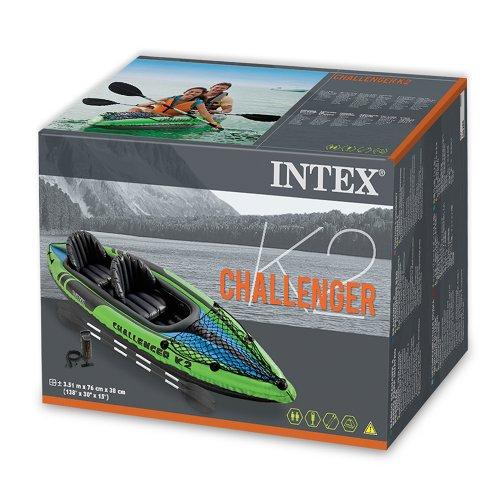 Intex Challenger K2 inflatable kayak box