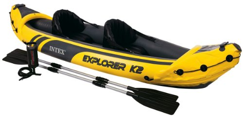Intex Explorer K2 2 man inflatable kayak + oars + pump