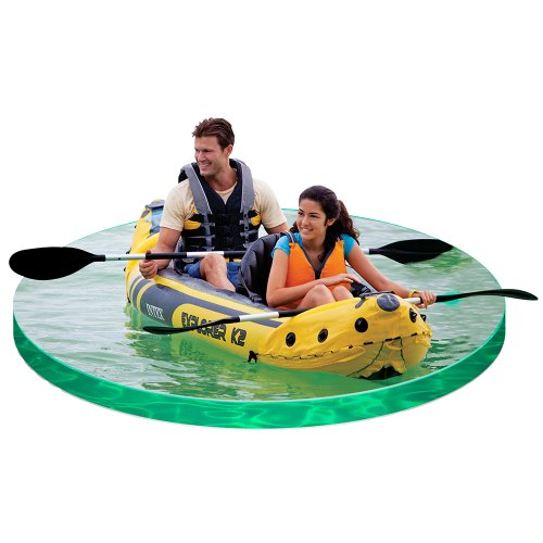 Intex Explorer K2 inflatable Kayak in situ