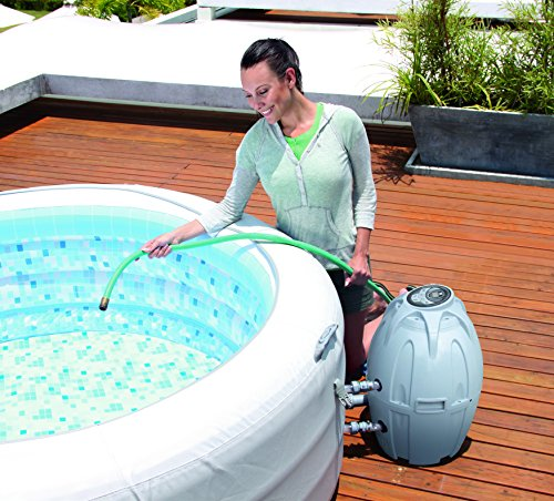 Lay-Z-Spa Vegas Premium Series Inflatable Hot Tub filling with water