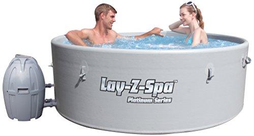 Lay Z Spa Monaco Grey Rigid Portable Hot Tub 0 Inflatable