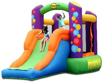 Happy hop party combo bouncer with slide bouncy for Happy hop inflatable water slide