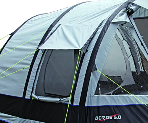 High Peak Aeros 4.0 Family Tunnel Tent - Light Grey/Dark Grey/Red 480 x 280 x 200 cm - Inflatable & High Peak Aeros 4.0 Family Tunnel Tent - Light Grey/Dark Grey/Red ...
