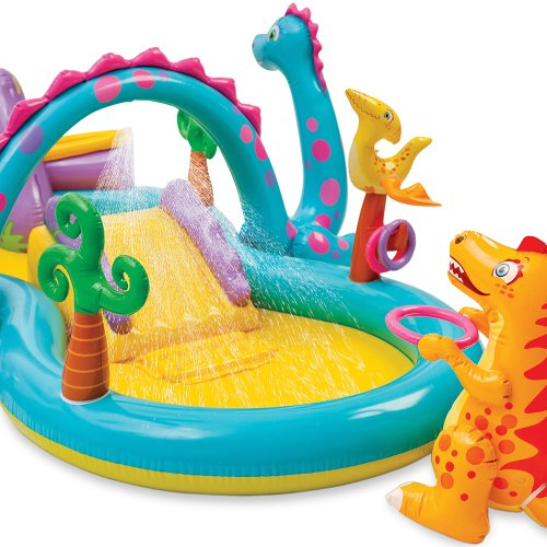Inflatable Slide Paddling Pool: Intex Dinosaur Water Play Center, Paddling Pool With