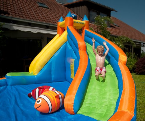 Inflatable Slide Hire Uk: Water Park Paddling Pool With Inflatable Slide
