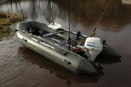 Bison inflatable fishing boat 14 ft olive green fishing for Inflatable boats for fishing