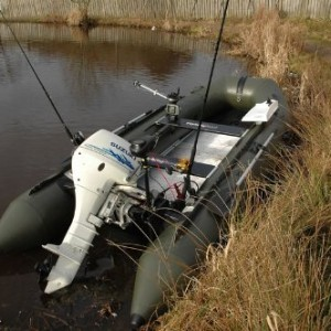 Bison inflatable fishing boat