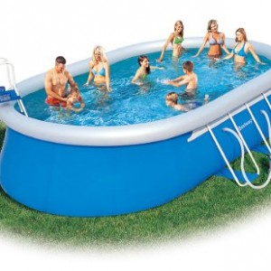 gardenkraft garden inflatable rectangular swimming pool large inflatable. Black Bedroom Furniture Sets. Home Design Ideas