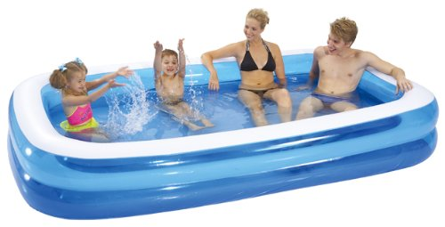 Gardenkraft garden inflatable rectangular swimming for Large size inflatable swimming pool