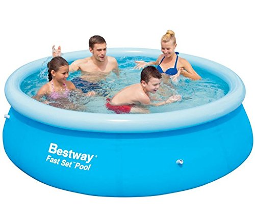 bestway round fast set above ground pool 2 44 x 0 66m inflatable. Black Bedroom Furniture Sets. Home Design Ideas