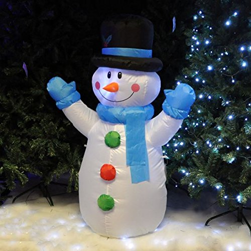 4 Ft 4 Snowman Led Airblown Christmas Inflatable Lighted New