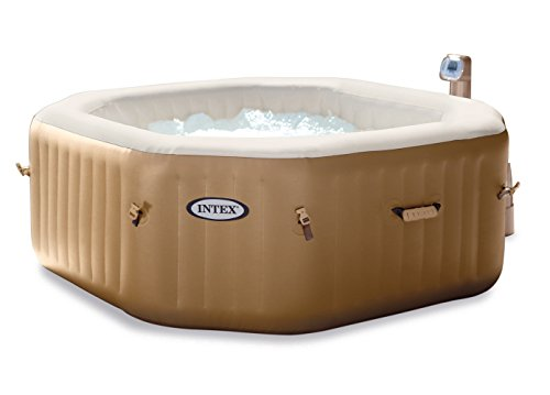 intex octagonal bubble spa hot tub inflatable. Black Bedroom Furniture Sets. Home Design Ideas