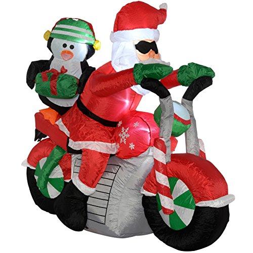 Werchristmas cm large pre lit quot santa motorcycle