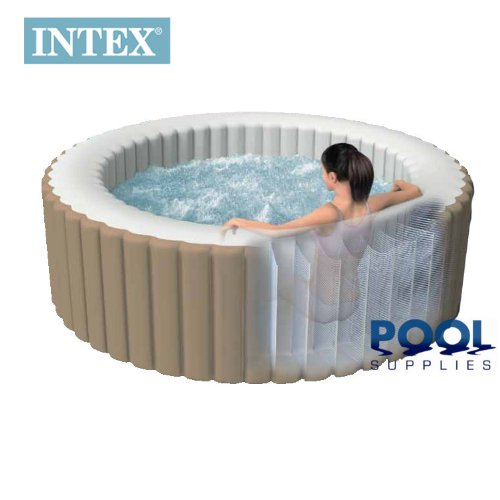 intex pure spa deluxe inflatable 4 person portable spa hot tub jacuzzi complete set up inflatable. Black Bedroom Furniture Sets. Home Design Ideas