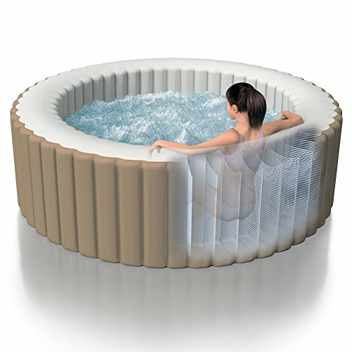 intex pure spa bubble round for 6 people inflatable. Black Bedroom Furniture Sets. Home Design Ideas
