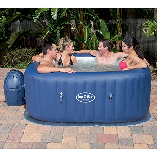 Lay Z Spa Hawaii Airjet Square Inflatable Portable Hot Tub