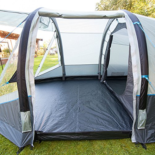 Skandika Folldal 4 Air-Rise Inflatable Family Group Tent 4 Person Man with Sewn-In Groundsheet 3000 mm Water Column Mosquito Netting 180cm Height u0026 Air ... & Skandika Folldal 4 Air-Rise Inflatable Family Group Tent 4 Person ...