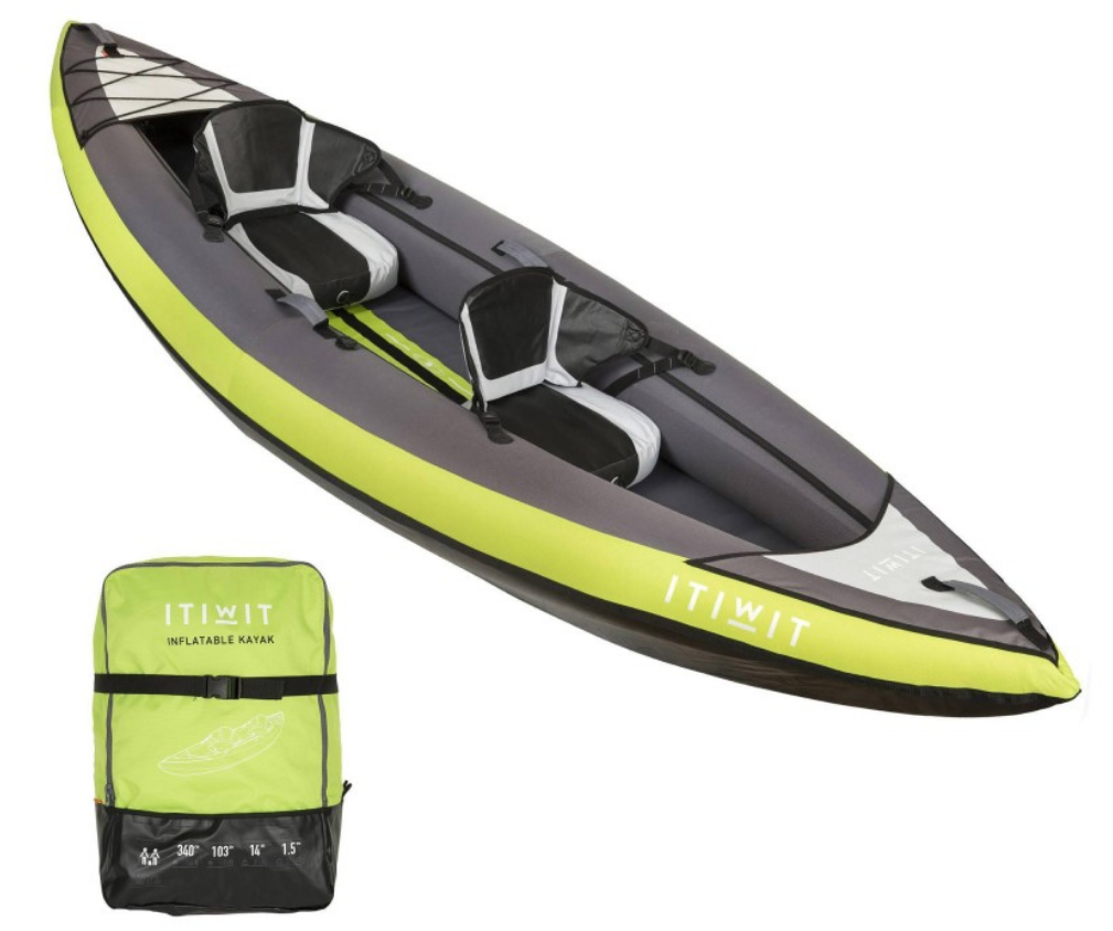 Decathlon Itiwit inflatable kayak 2 persons
