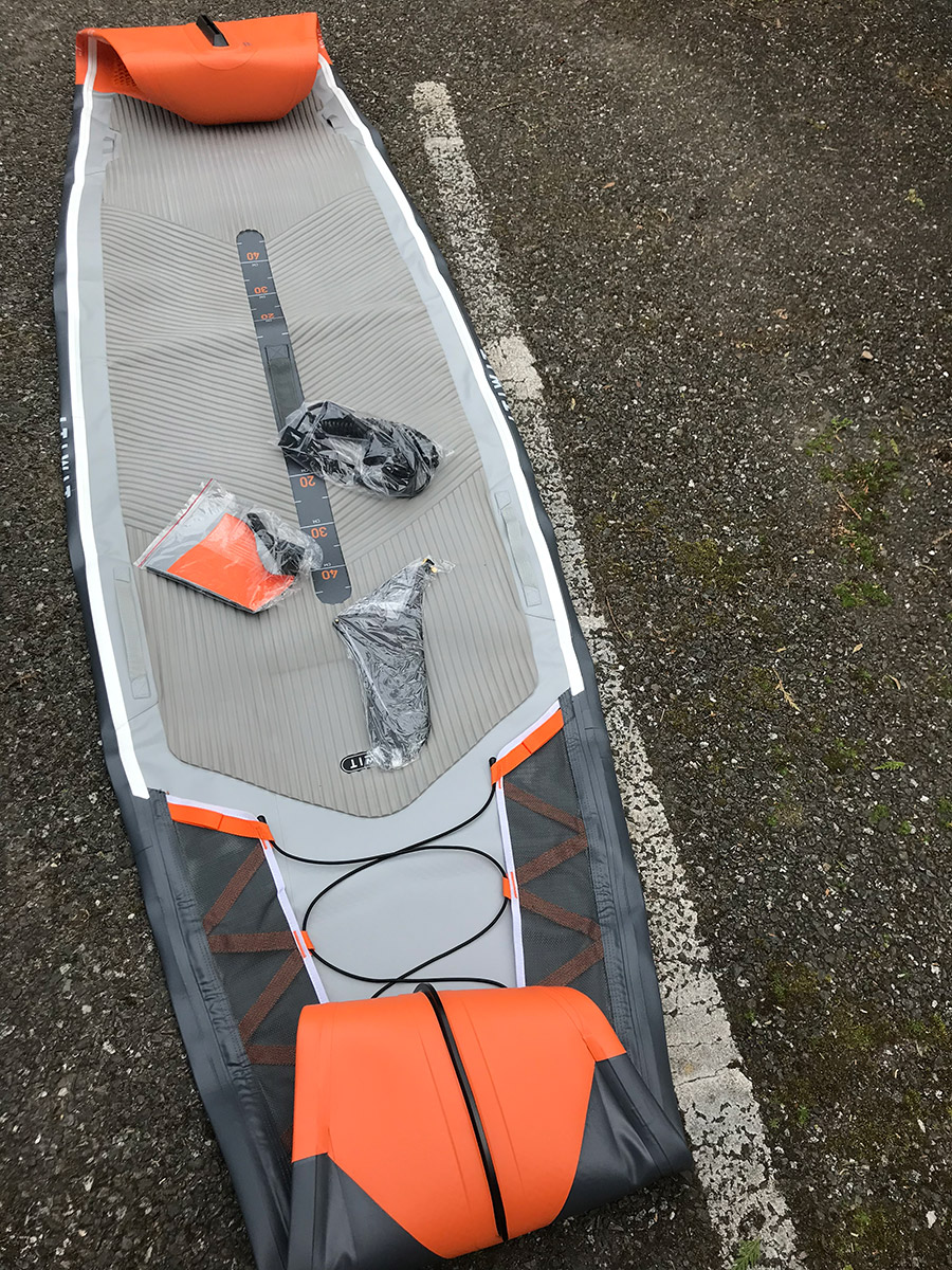 "ITIWIT INFLATABLE TOURING STAND UP PADDLE BOARD 500/12'6-29"" ORANGE"