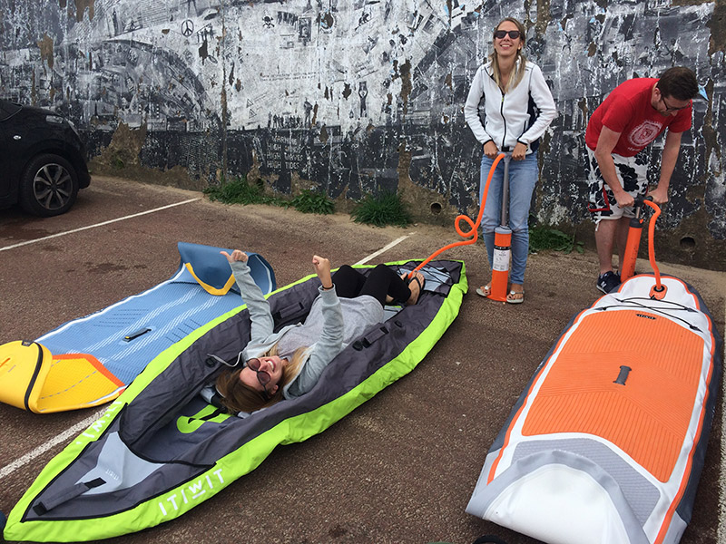 Fun inflating kayak sup boards