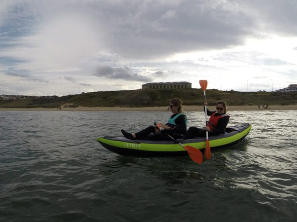 Inflatable kayak session tynemouth