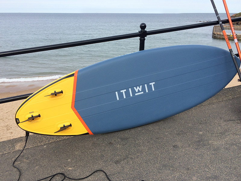 Inflatable surfing SUP board Tynemouth
