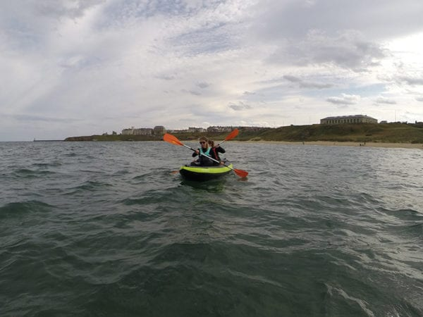 Kayak session tynemouth