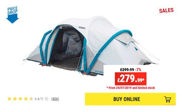 Best inflatable tents for family by Decathlon