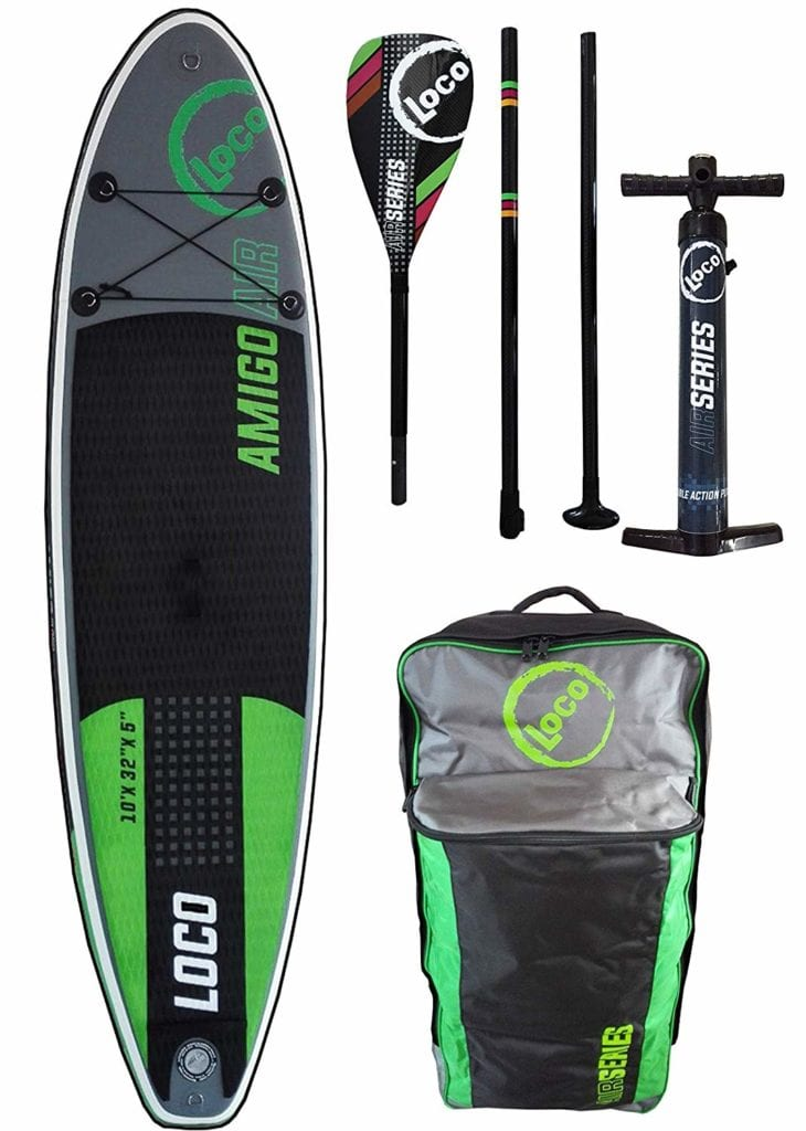 LOCO inflatable SUP board green